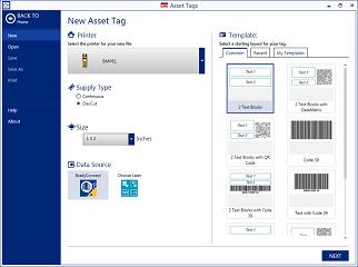Select printer, supply, and layout