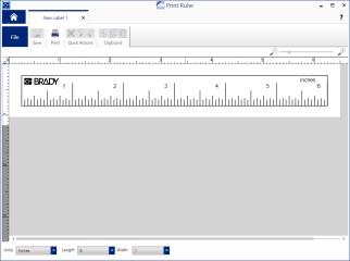 Select ruler settings and print