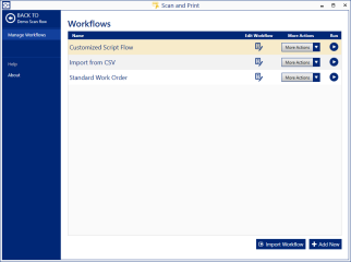 Manage multiple workflows